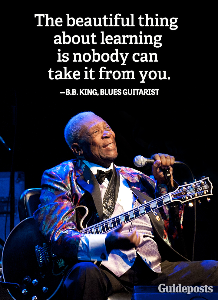 Wisdom quote B.B. King blues learning