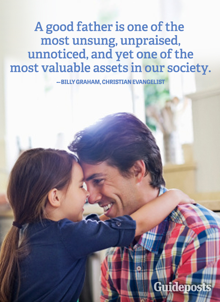 Family Graphic Quote Billy Graham good father