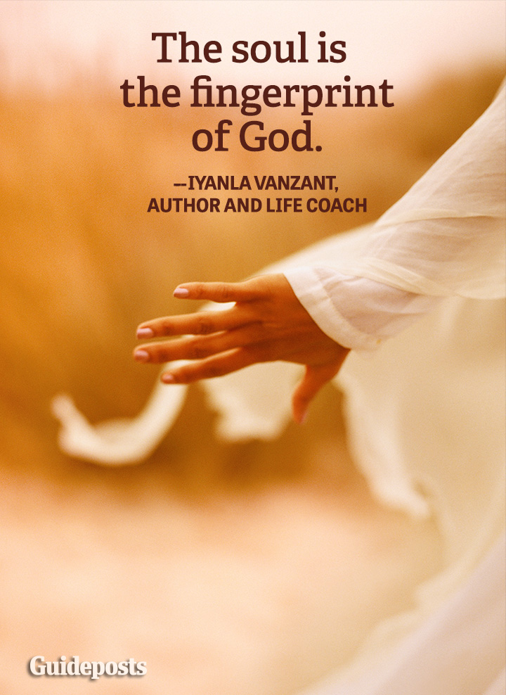 Spiritual Quote God fingerprint Iyanla Vanzant