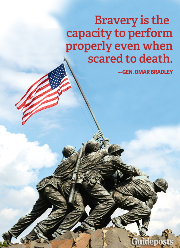 Fear Graphic Quote Omar Bradley courage bravery Veterans Day