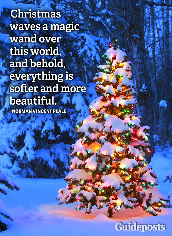 Norman Vincent Peale Quote Christmas magic wand