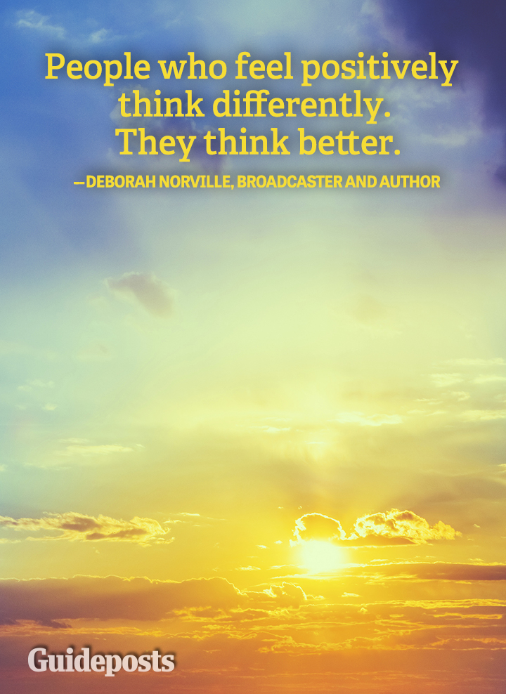 Positive Quote Deborah Norville think better differently