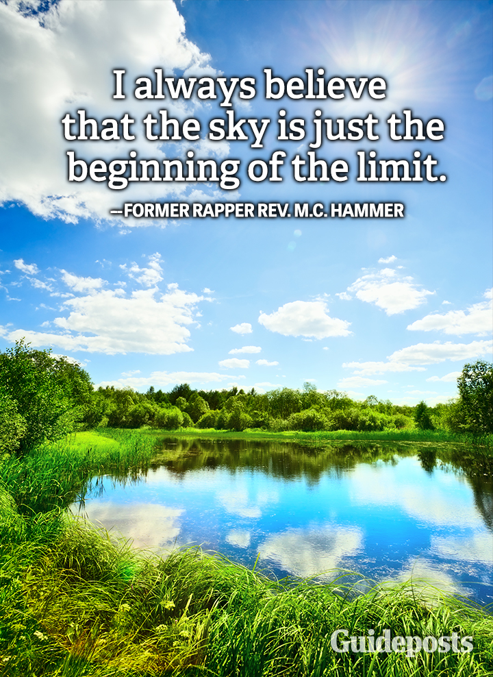 sky the limit positive quote MC Hammer