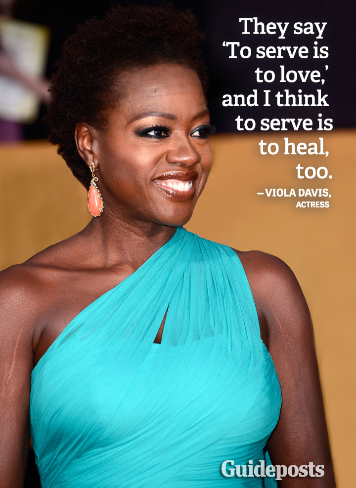 Helping Others quote Viola Davis heal serve love