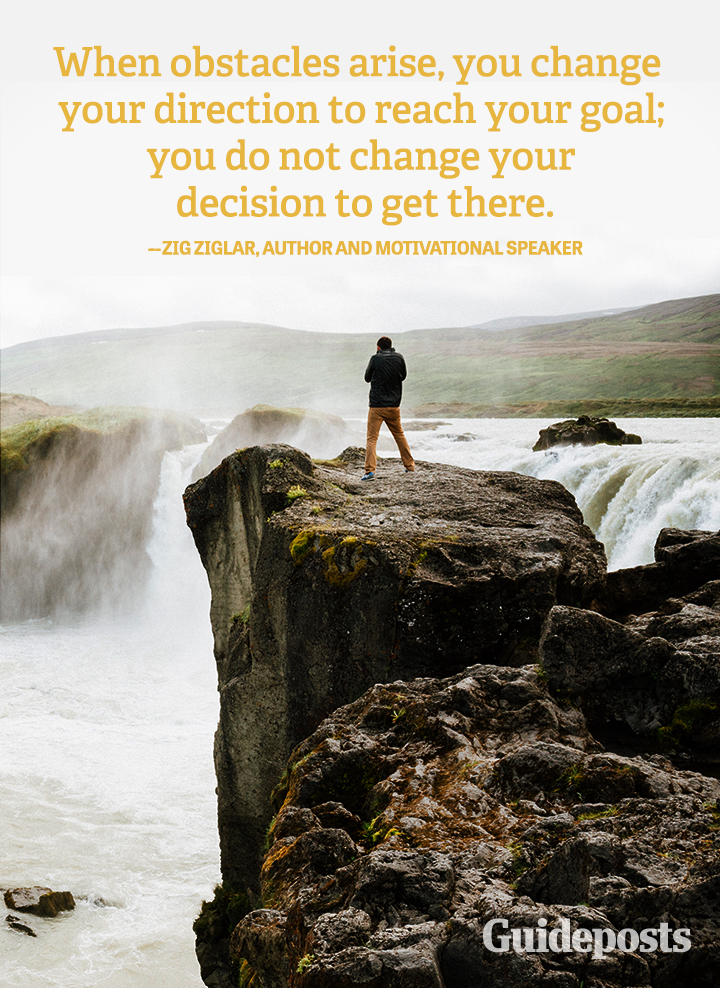 Change Quote Zig Ziglar Obstacles direction goal decision