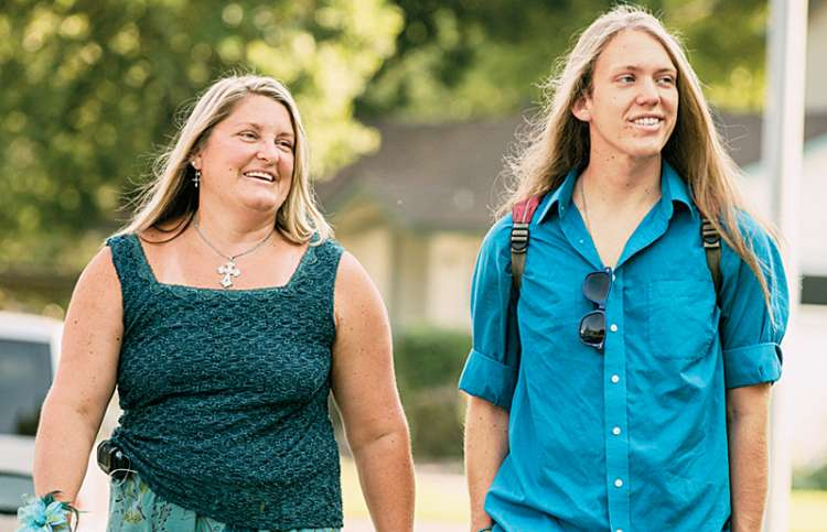 Christy Hoss with her son, Andrew