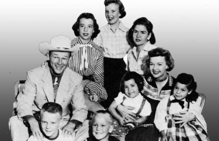 Dale Evans with husband Roy Rogers and their children