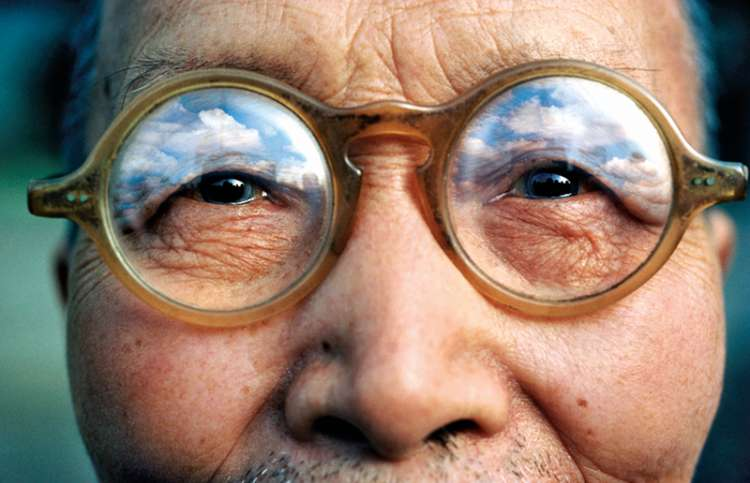 A closeup of an elderly Japanese gentleman