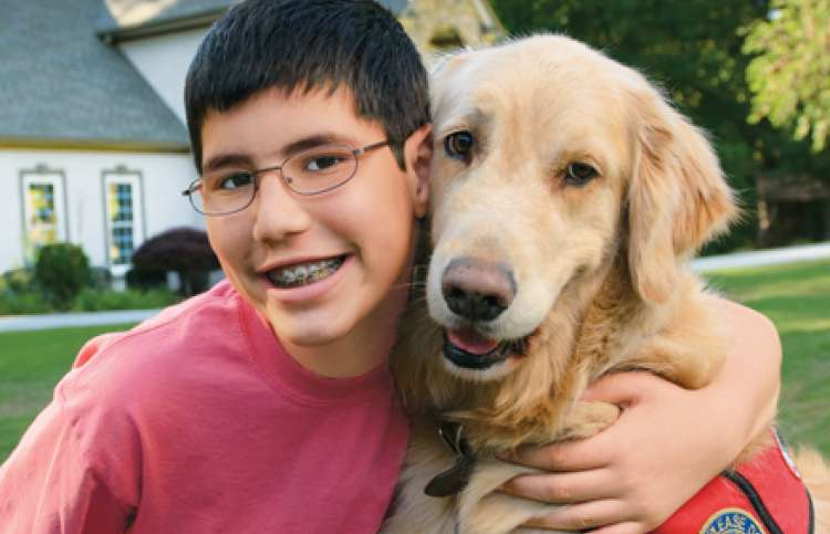 Donnie's son Iyal and his dog, Chancer
