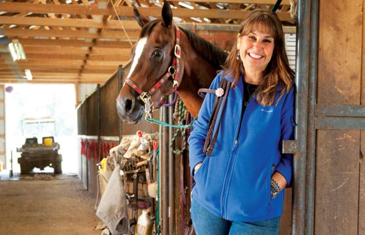 Susan Federici with Smoothie