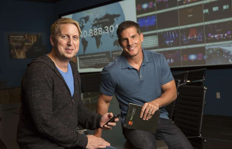 Craig (right) with Bobby Gruenewald, who came up with the idea for the Bible app