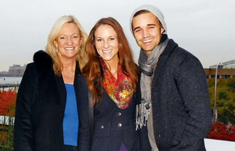 Karen Kingsbury, daughter, Kelsey, and son-in-law, Kyle