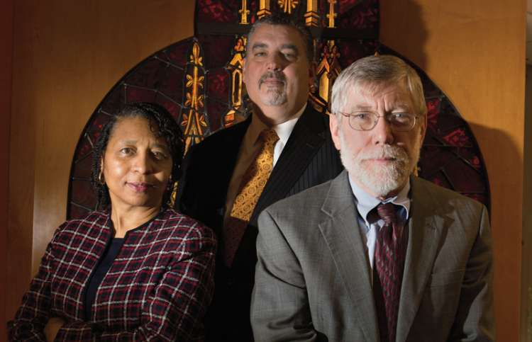 Florine Thompson, Eric Hall and George Handzo, hardworking chaplains of the HCC