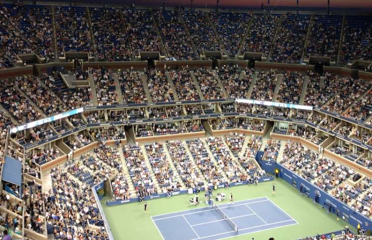 A view of the court from Row V at the U.S. Open.