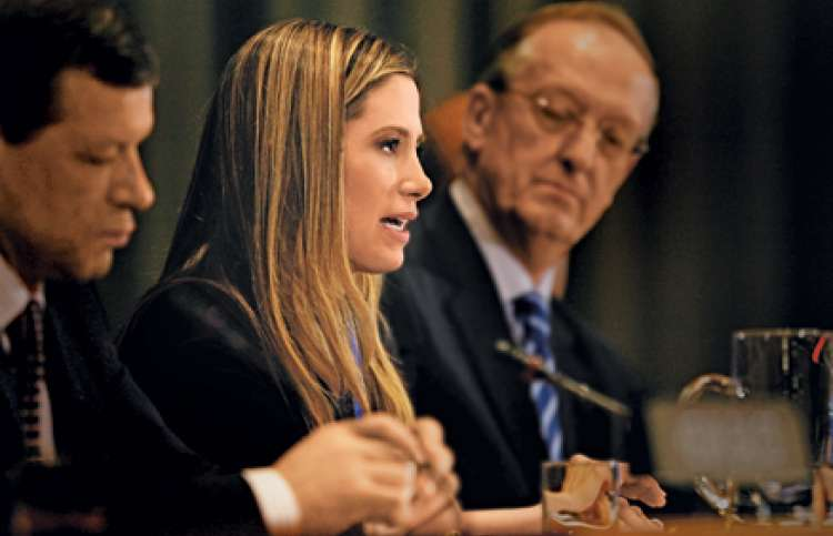 Mira Sorvino in her role as UN Goodwill Ambassador to Combat Human Trafficking