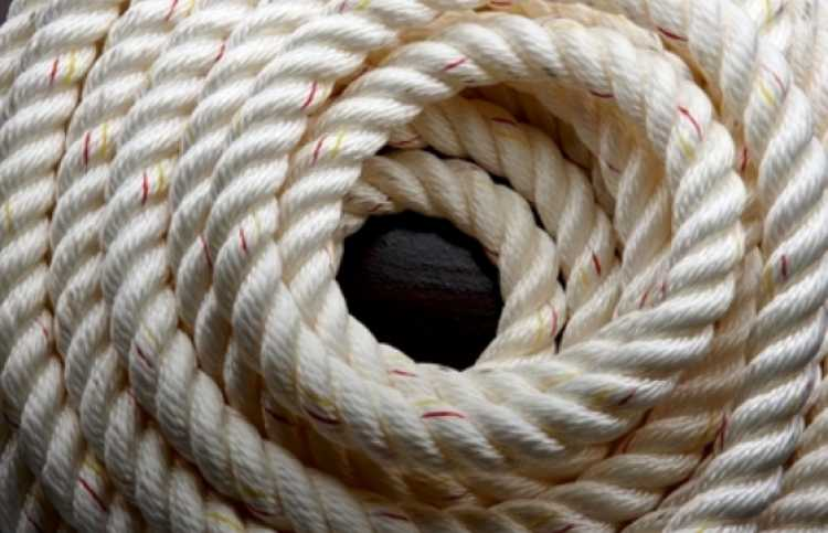 a coil of thick rope