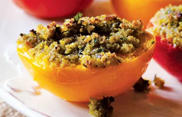 These Provençal stuffed tomatoes are delicious with lamb, chicken or fish.