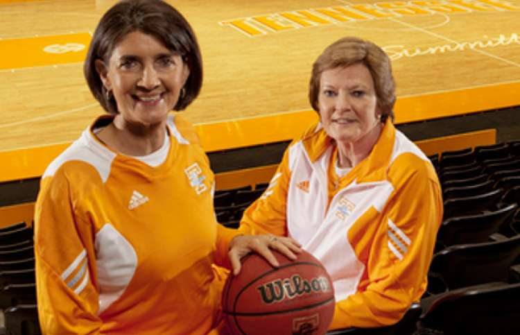 Mickie DeMoss (left) with her mentor, Pat Summitt