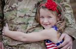 A soldier and daughter. Photo: Thinkstock.