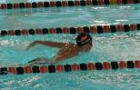 Shawnelle's son, Samuel, swimming.