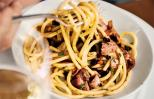 Pasta with Roast Chicken and Currants