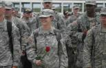 Guideposts editorial assistant Allison Churchill before welcome-home ceremony