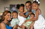 Benjamin Watson, his wife, Kirsten, and their four children