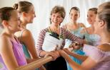 Katha Bardel with some of her dance students