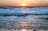 the ocean at sunset
