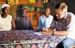 Roger Thurow interviews the Wanyana family in western Kenya