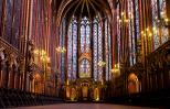 The Sainte-Chapelle was built in the thirteenth century by King Louis IX.