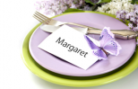 Place setting for a spring dinner party