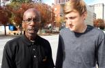 Marvin Perkins Jr. with interviewer Kyle from Give Back Films