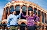 Lisa with her blogging partner, Jon, outside the ballpark where the Spartan Sprint was held
