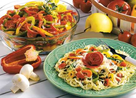 Dinner recipes: Pasta with Garden Vegetables