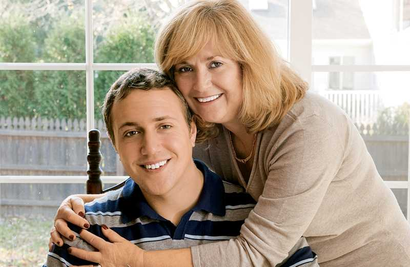 Adam Hunter and his mom