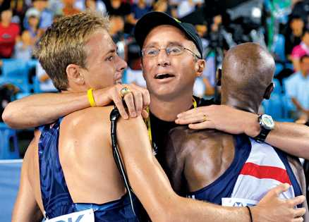 Alberto Salazar and his medal winners, Galen Rupp and Mo Farah