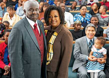"""Donna Martin and her husband, """"Pastor"""""""