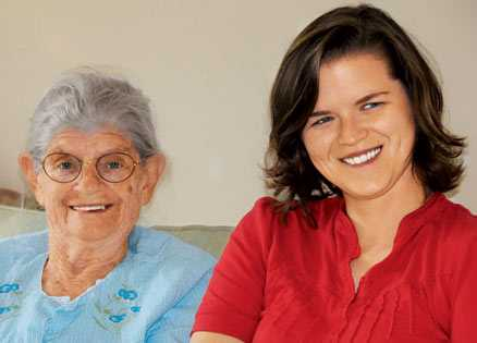 Amanda Rigell, who taped her Mammaw's stories, found the experience rewarding.