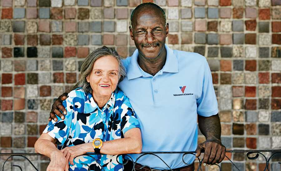 Guideposts: Carl Payton of Volunteers of America, with client and friend Stella