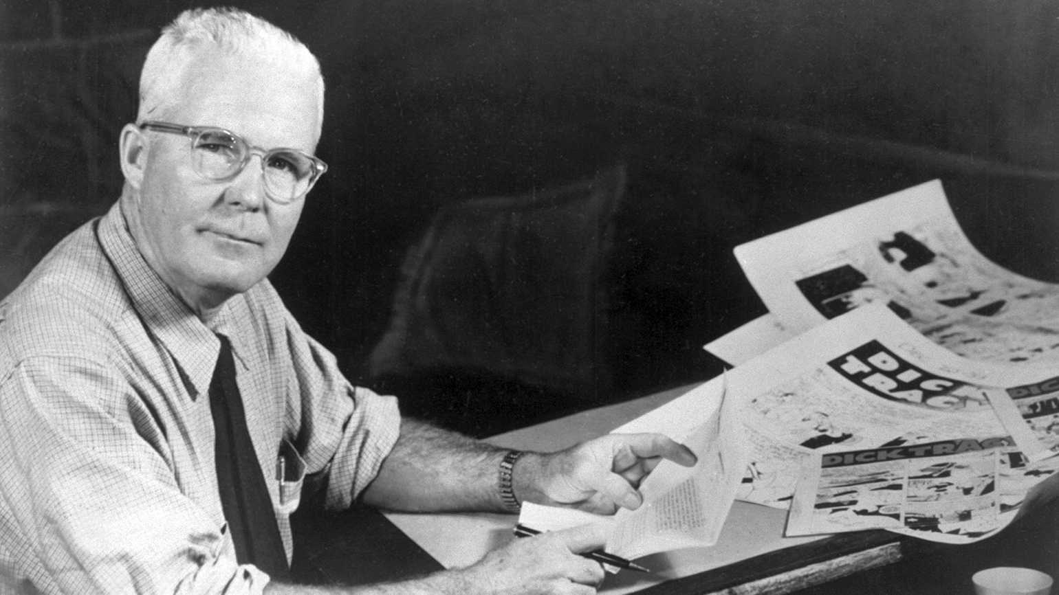 Chester Gould, creator of the comic strip Dick Tracy