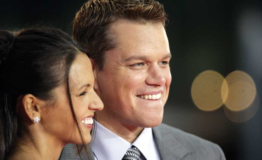 Actor Matt Damon and his wife, Luciana, who met at a Miami club called Crobar