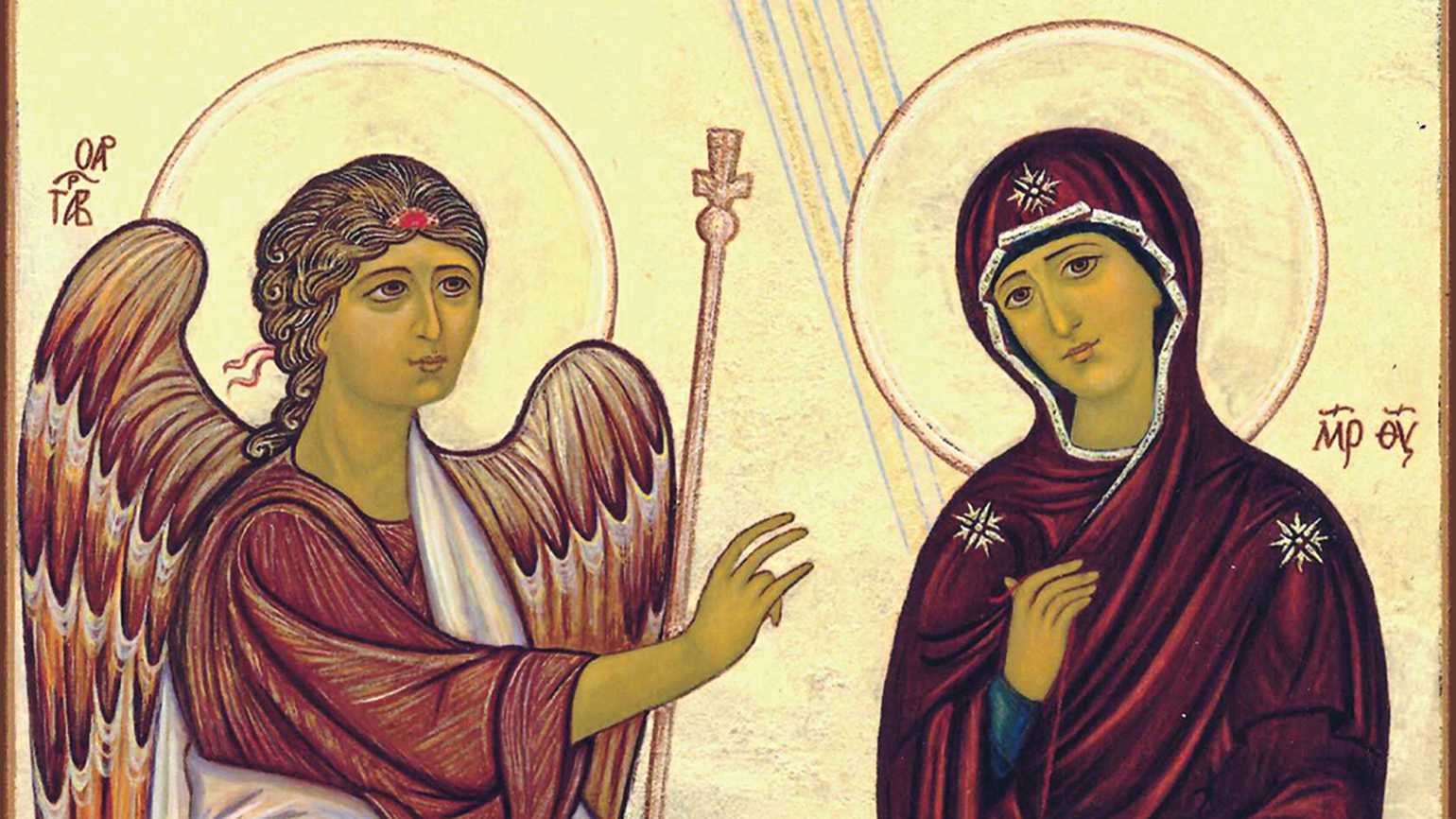 From Deborah's icon depiction of The Annunciation