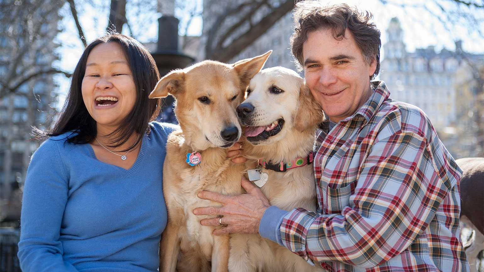 Amy Wong, Winky, Millie and Edward Grinnan (l-r)