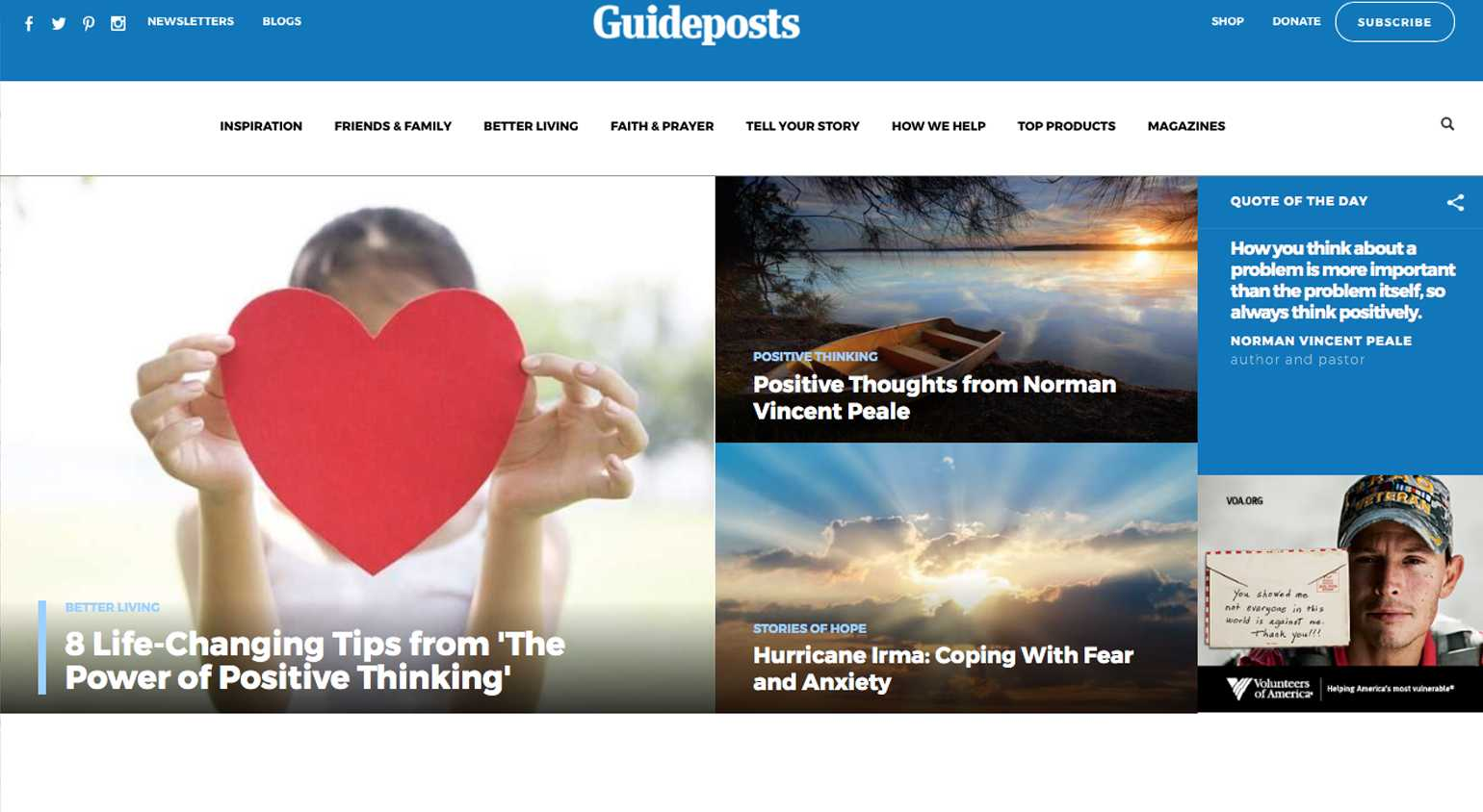 Guideposts.org Wins National Award