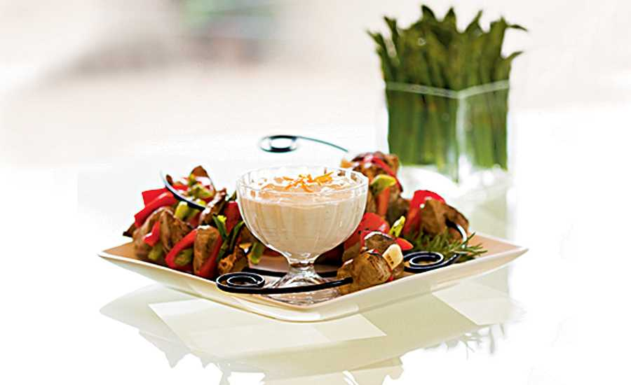 Robin Miller's Pork Kebabs with Asian Orange Dip