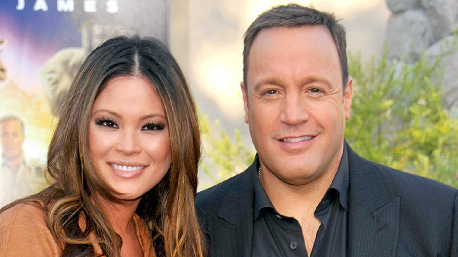 Kevin James with his wife, Steffiana