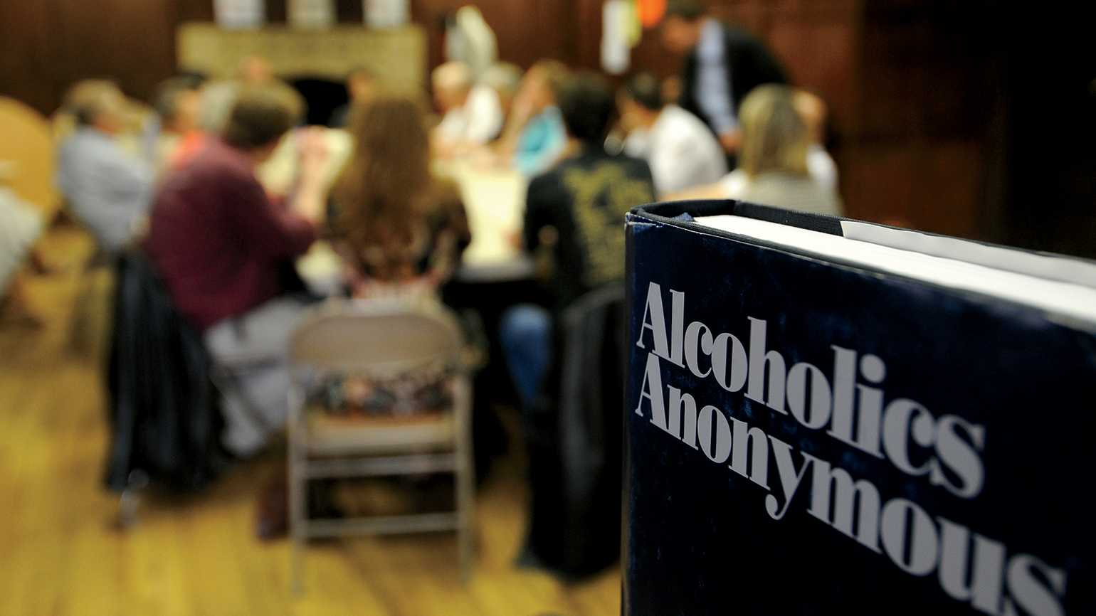 An Alcoholics Anonymous meeting