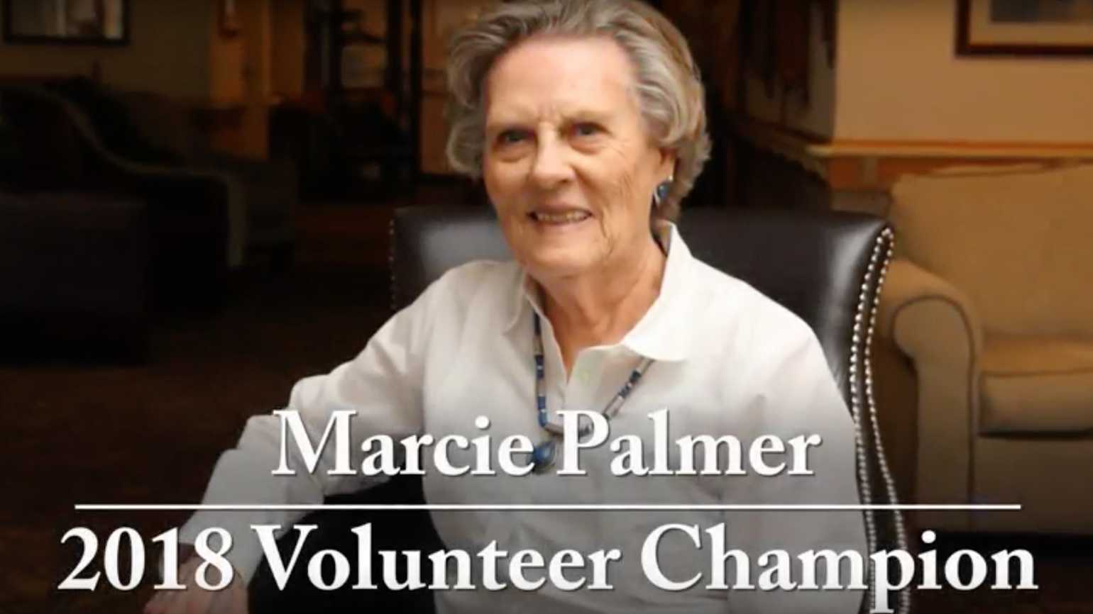 Marcie Palmer 2018 Volunteer Champion