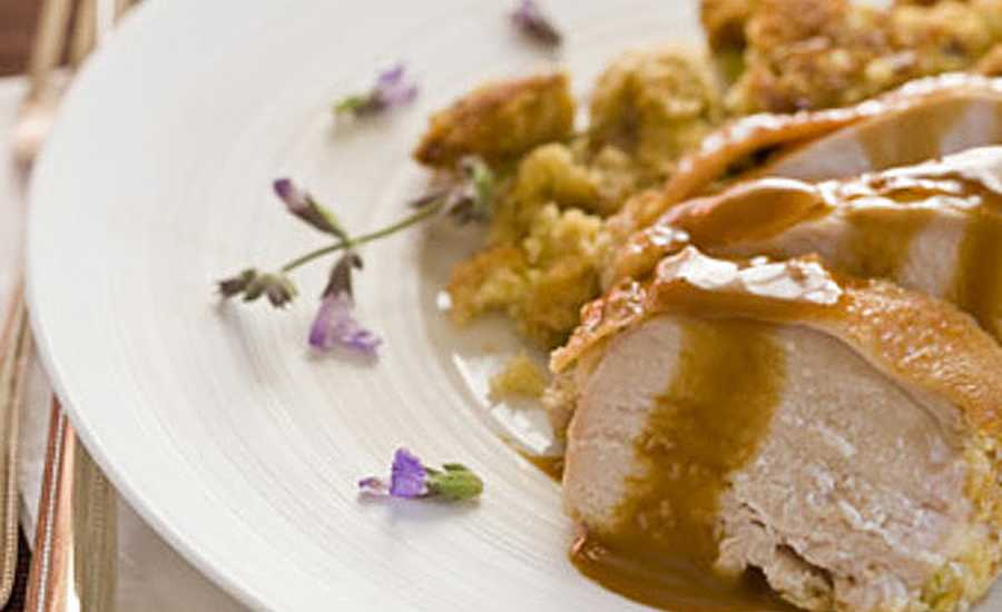 Guideposts: Roasted Turkey Breast with Cornbread-Sage Stuffing